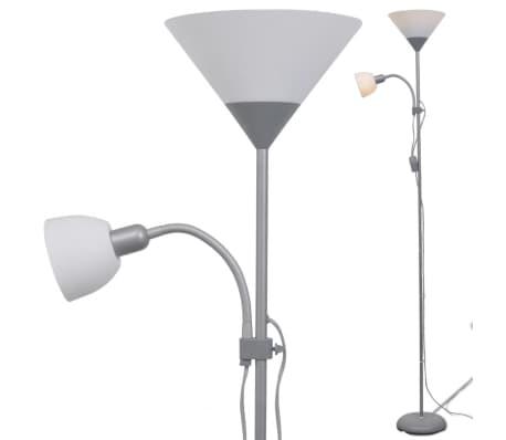 vidaXL lámpara de pie gris[3/7]