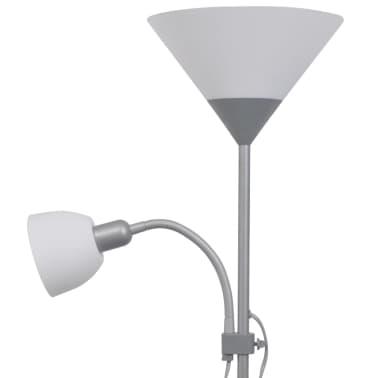 vidaXL lámpara de pie gris[4/7]