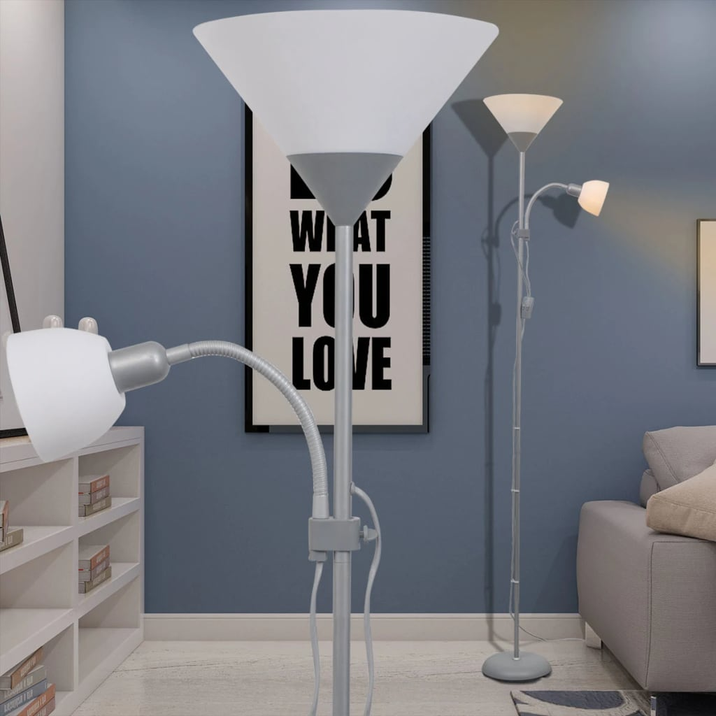 Stojací lampa šedá