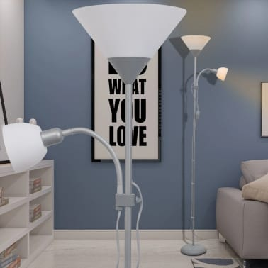 vidaXL lámpara de pie gris[1/7]