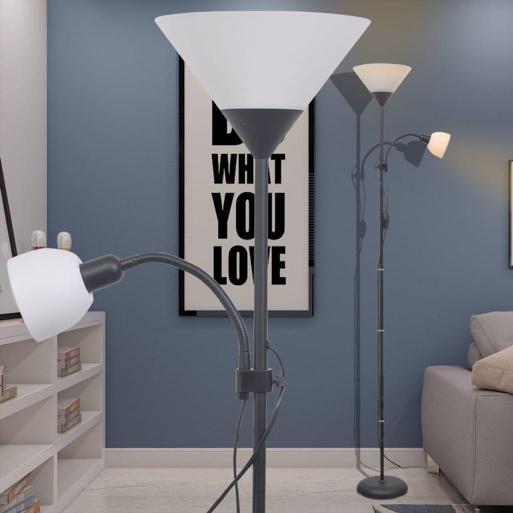 vidaXL Stojací lampa černá
