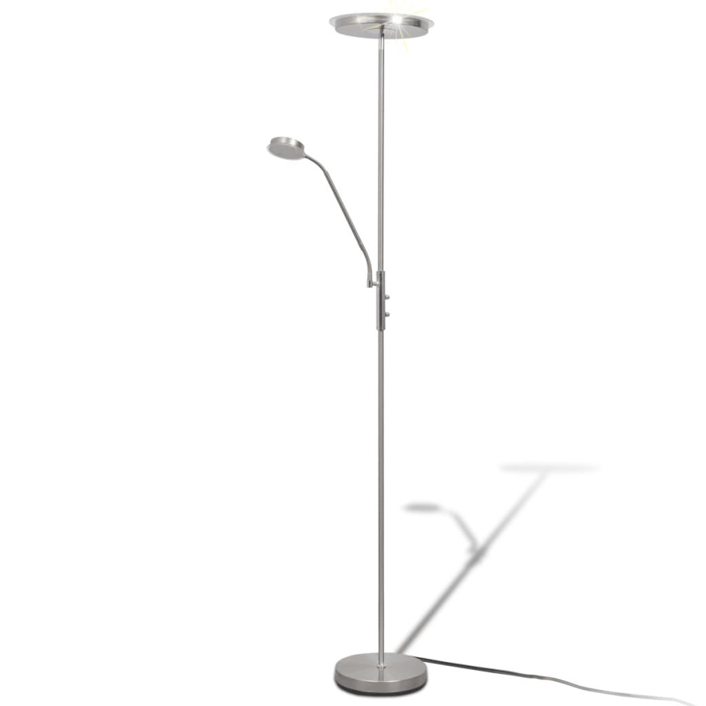vidaXL Φωτιστικό Δαπέδου LED 23 W με Dimmer με Επίπεδο Καπέλο