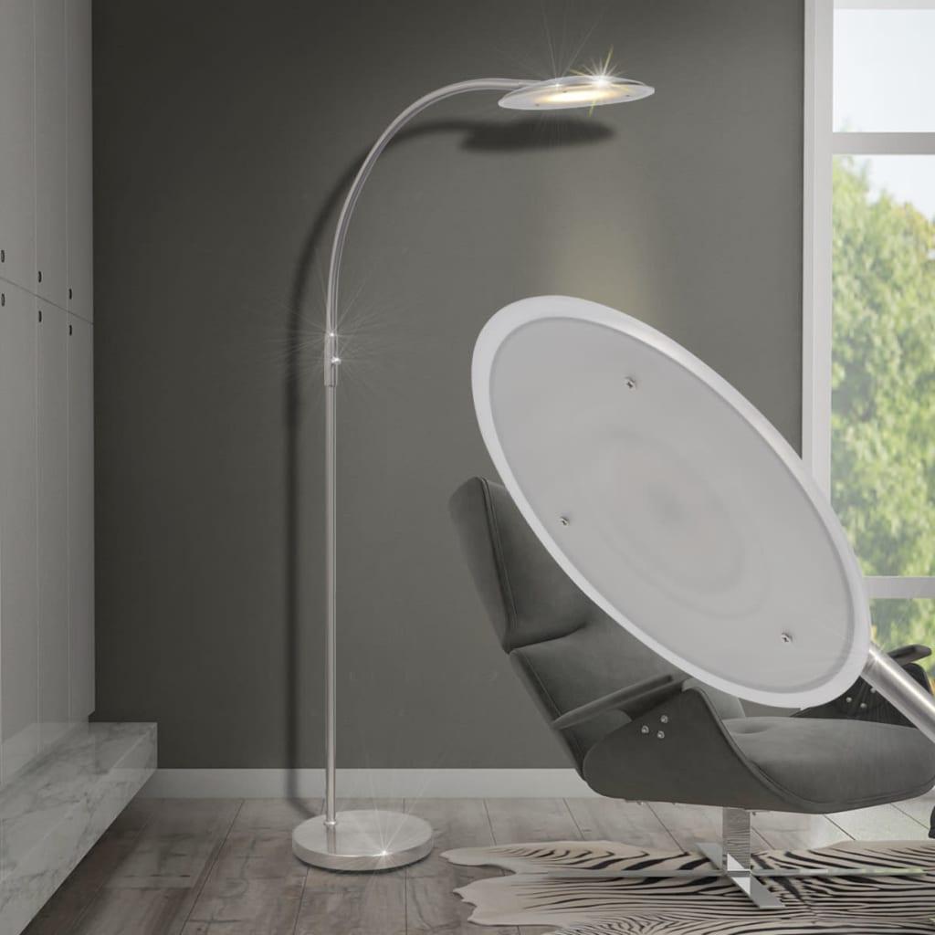 vidaXL Lampă arcuită de podea cu LED-uri și intensitate variabilă 18 W poza vidaxl.ro