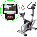 vidaXL Vélo programmable d'appartement Masse mobile 10 kg Smartphone