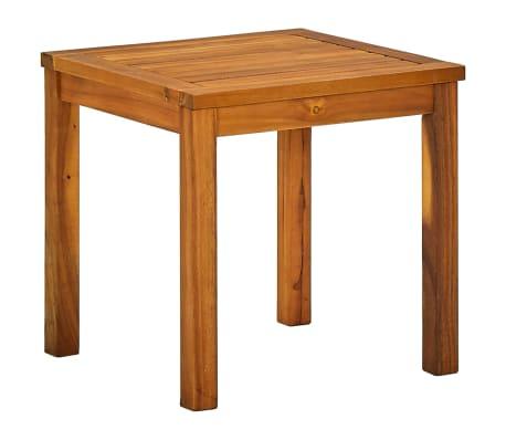 vidaXL Ligbed met tafel massief acaciahout en textileen[6/10]