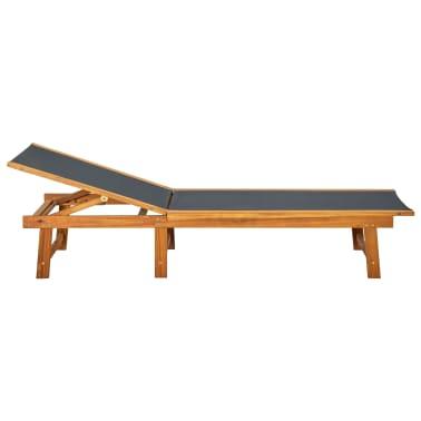 vidaXL Ligbed met tafel massief acaciahout en textileen[3/10]