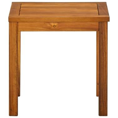 vidaXL Ligbed met tafel massief acaciahout en textileen[7/10]