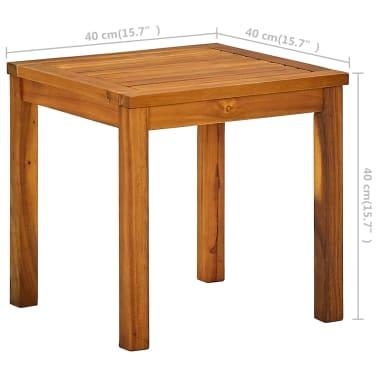 vidaXL Ligbed met tafel massief acaciahout en textileen[9/10]