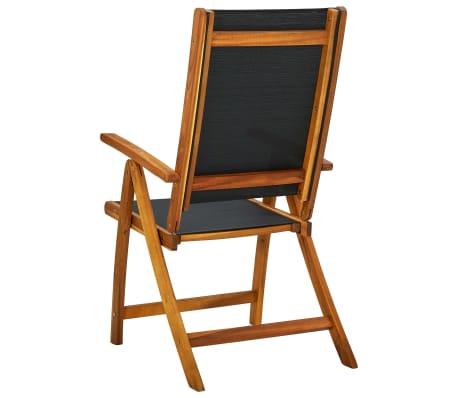 vidaXL Sklopive Stolice 2 kom Bagremovo drvo Crne[5/5]