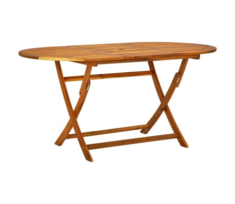 vidaXL Outdoor Dining Set 7 Pieces Acacia Wood Folding[5/9]