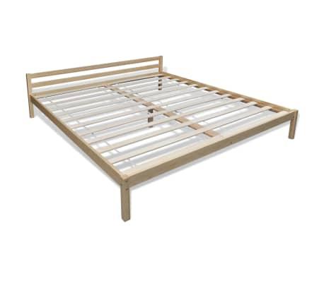 acheter vidaxl lit bois de pin massif naturel 160 x 200 cm pas cher. Black Bedroom Furniture Sets. Home Design Ideas