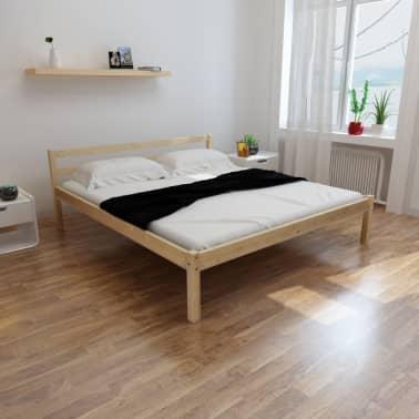 160 seng Shop vidaXL Seng 160 x 200 cm massiv furu naturell | vidaXL.no 160 seng