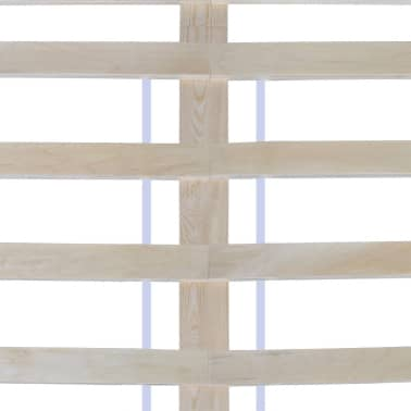 vidaXL Cadre de lit Blanc Bois de pin massif 140 x 200 cm[6/7]