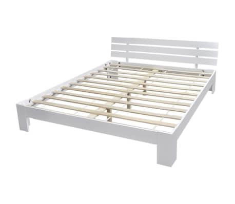 acheter vidaxl lit bois de pin massif 160 x 200 cm blanc pas cher. Black Bedroom Furniture Sets. Home Design Ideas