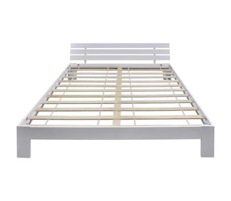 Vidaxl cama de madera de pino maciza blanca 180x200 cm for Camas blancas de madera