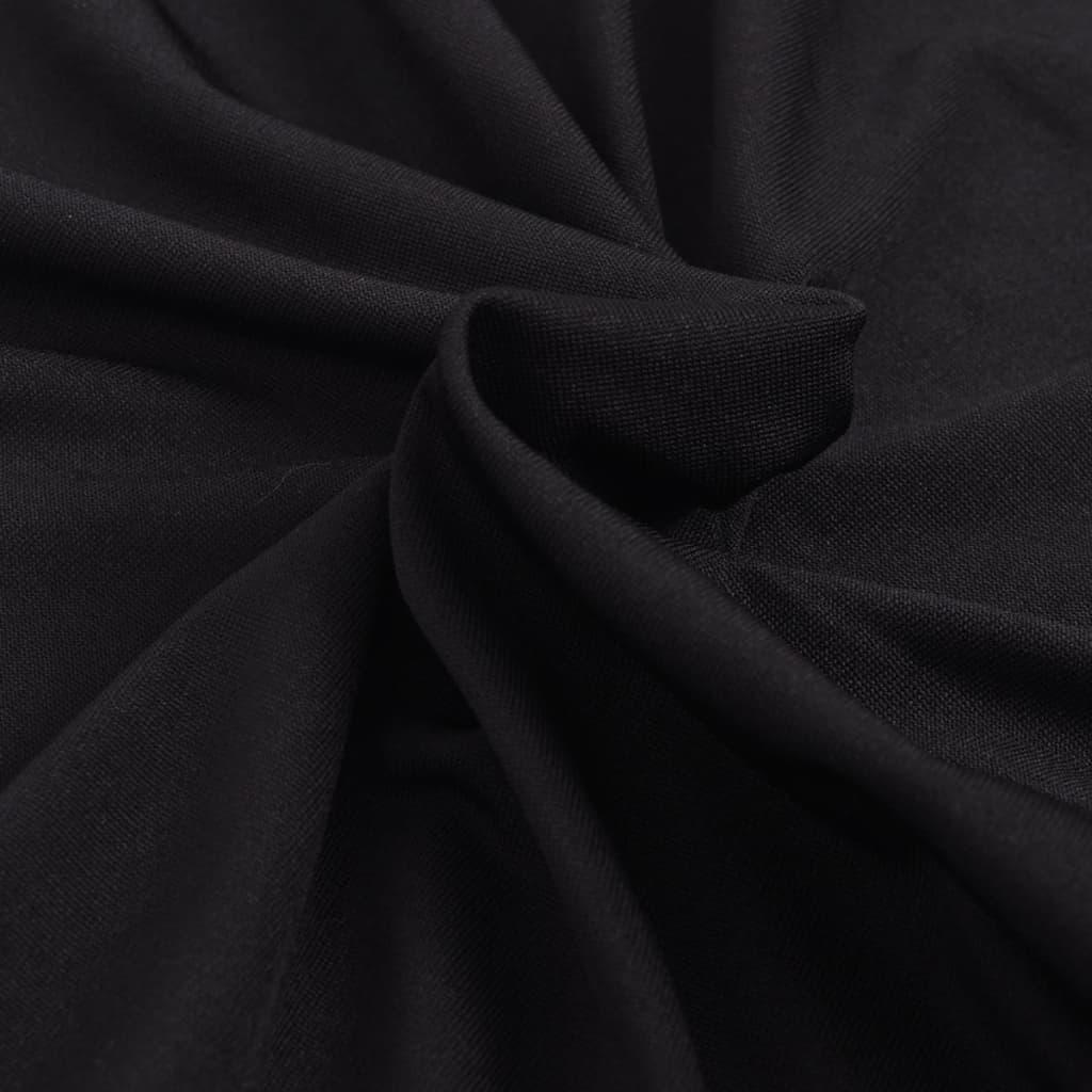 vidaXL Strečový potah na křeslo, černý polyesterový žerzej