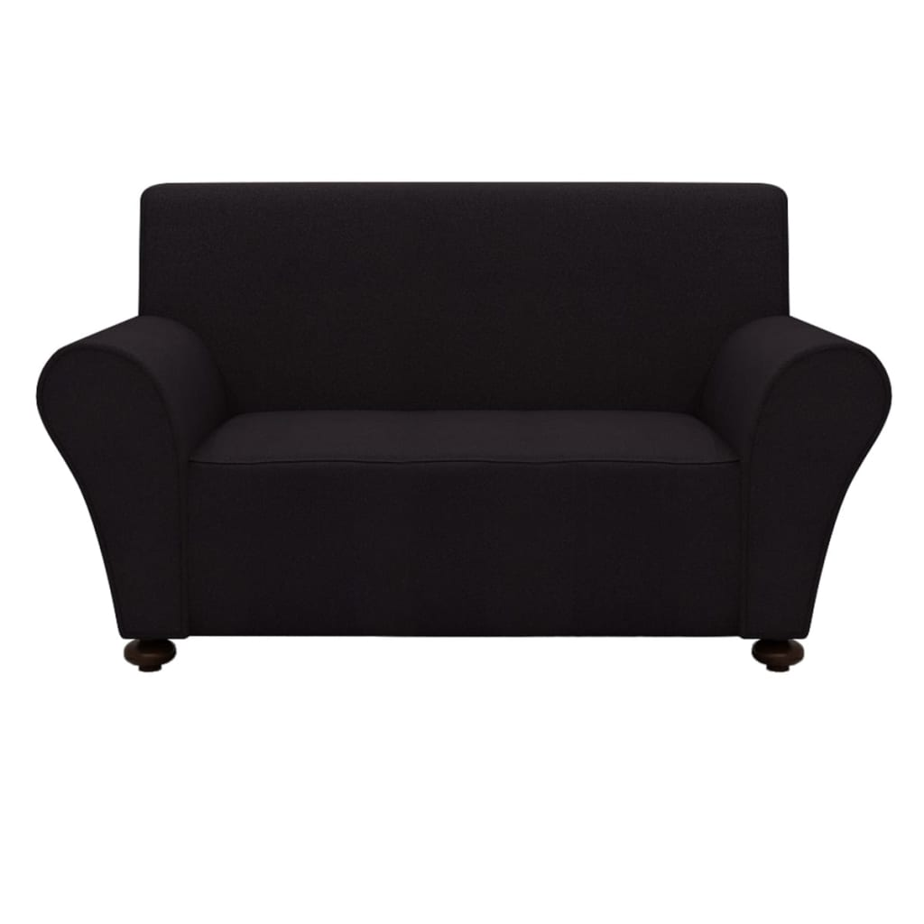 999131080 Sofahusse Sofabezug Stretchhusse Schwarz Polyester-Jersey