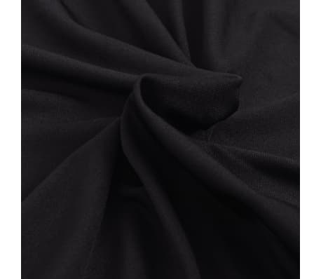 vidaXL funda elástica para sofá de tela jersey de poliéster negra[3/5]