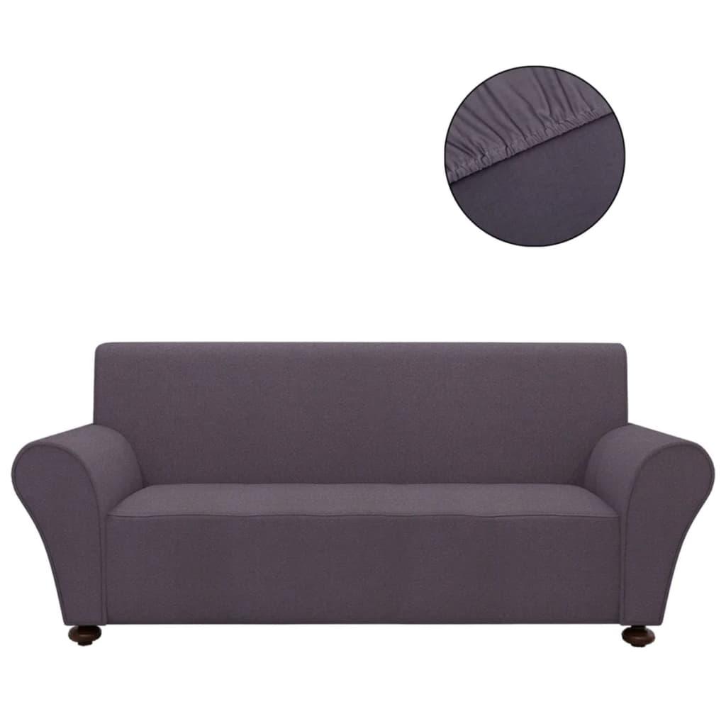 vidaXL Strečový potah na pohovku antracitový, polyesterový žerzej