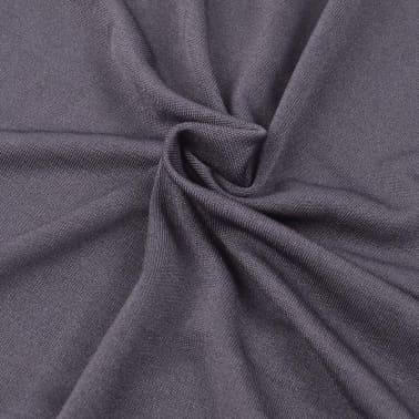 vidaXL Bankhoes stretch polyester jersey antraciet[3/5]
