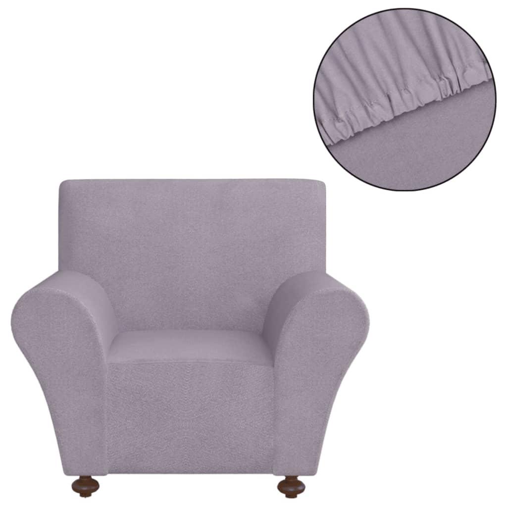 vidaXL Strečový potah na křeslo šedý polyesterový žerzej
