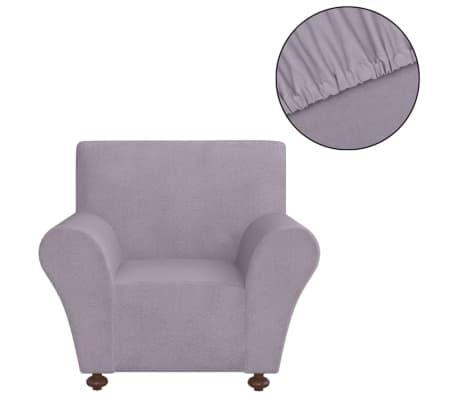 vidaXL Elastyczny pokrowiec na fotel, z dżerseju, szary[2/5]