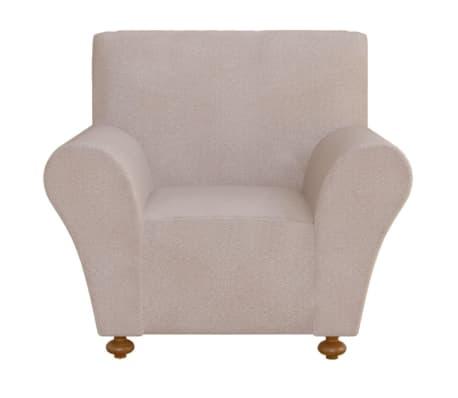 vidaXL Elastyczny pokrowiec na sofę, z dżerseju, beżowy[1/5]