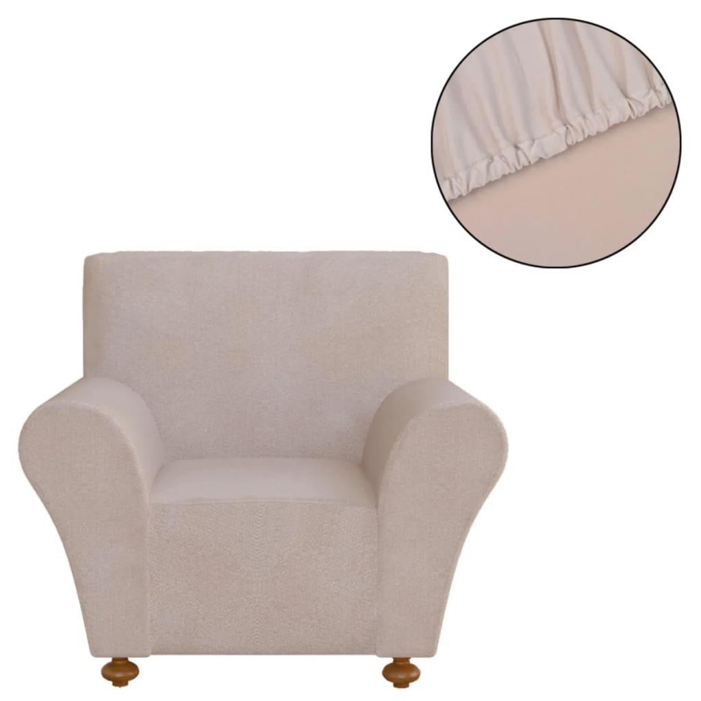 vidaXL Strečový potah na křeslo, béžový polyesterový žerzej