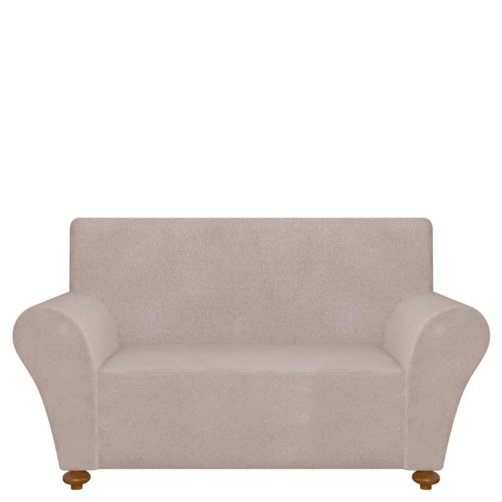 99131089 Sofahusse Sofabezug Stretchhusse Beige Polyester-Jersey