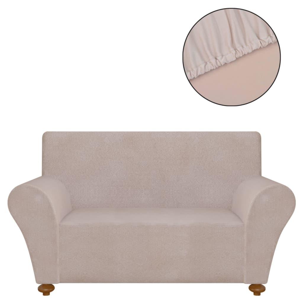 vidaXL Strečový potah na pohovku béžový polyesterový žerzej