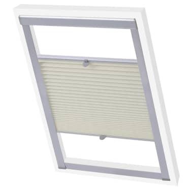 vidaXL Senčilo za zatemnitev okna kremno P06/406[1/7]