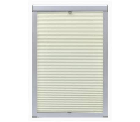 vidaXL Senčilo za zatemnitev okna kremno P06/406[2/7]