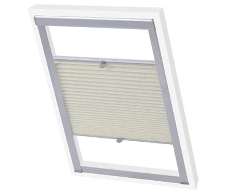 vidaXL Senčilo za zatemnitev okna kremno P08/408