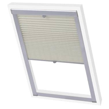 vidaXL Senčilo za zatemnitev okna kremno P08/408[3/7]