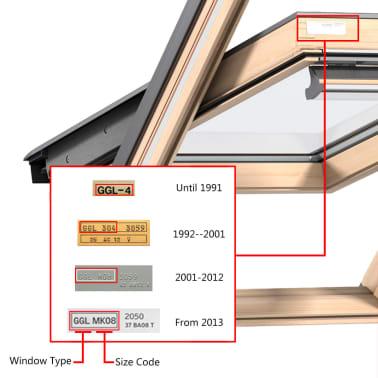 vidaXL Senčilo za zatemnitev okna kremno P08/408[6/7]