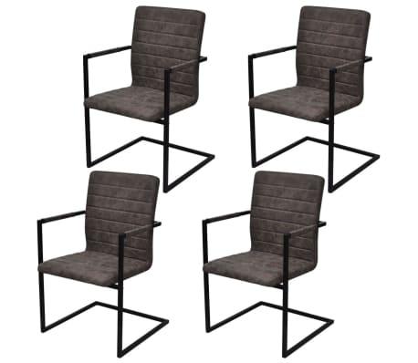 vidaXL Konzolne blagovaonske stolice od umjetne kože 4 kom smeđe