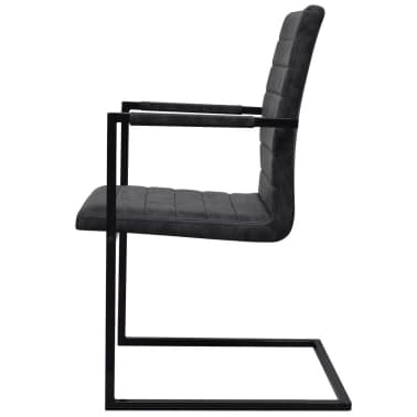 vidaXL Dining Chairs 4 pcs Cantilever Black[5/8]