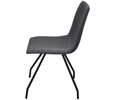 vidaxl esszimmerst hle 6 stk mit eisenbeinen stoffbezug dunkelgrau g nstig kaufen. Black Bedroom Furniture Sets. Home Design Ideas