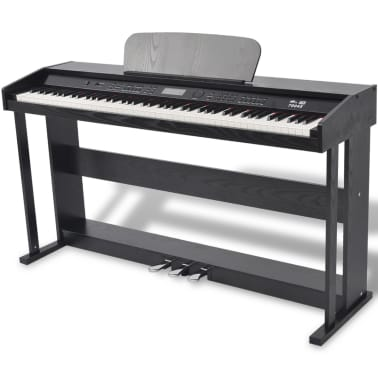 vidaXL 88-key Digital Piano with Pedals Black Melamine Board[1/8]