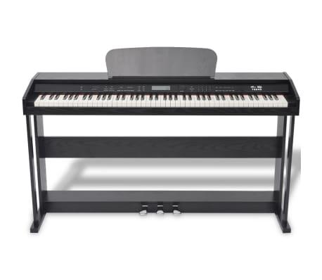 vidaXL 88-key Digital Piano with Pedals Black Melamine Board[2/8]