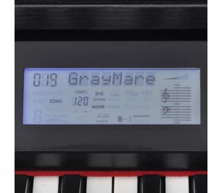 vidaXL 88-key Digital Piano with Pedals Black Melamine Board[4/8]