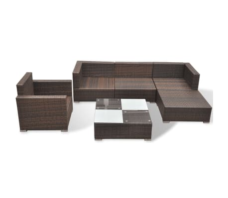 vidaxl gartensofa garnitur 17 tlg poly rattan braun g nstig kaufen. Black Bedroom Furniture Sets. Home Design Ideas