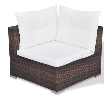 vidaxl gartensofa garnitur 17 tlg poly rattan braun g nstig kaufen. Black Bedroom Furniture Sets. Home Design Ideas