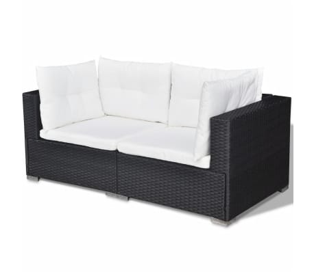 vidaxl gartensofa garnitur 17 tlg poly rattan schwarz g nstig kaufen. Black Bedroom Furniture Sets. Home Design Ideas