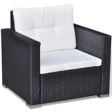 vidaxl 6 tlg garten lounge set mit auflagen poly rattan. Black Bedroom Furniture Sets. Home Design Ideas
