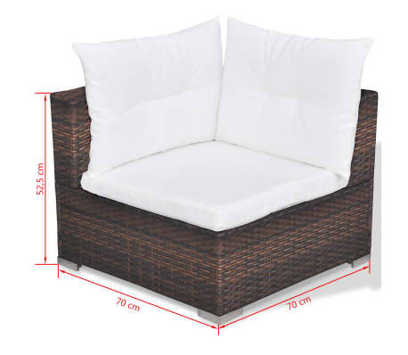 vidaxl garten sofagarnitur 32 tlg poly rattan braun g nstig kaufen. Black Bedroom Furniture Sets. Home Design Ideas