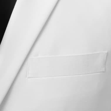 vidaXL Costum bărbătesc 2 piese cu cravată mărimea 46, Alb[3/8]
