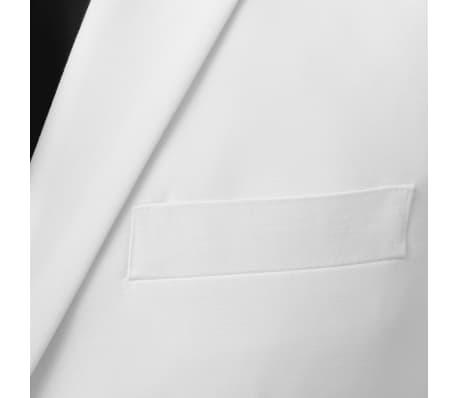 vidaXL Costum bărbătesc 2 piese cu cravată mărimea 54, Alb[3/8]