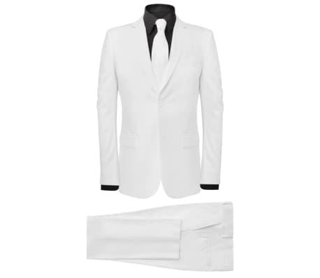 vidaXL Costume deux pièces avec cravate pour hommes Blanc Taille 56