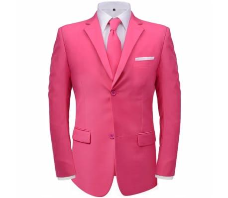 vidaXL Costume pour hommes avec cravate 2 pièces Rose Taille 46[2/8]